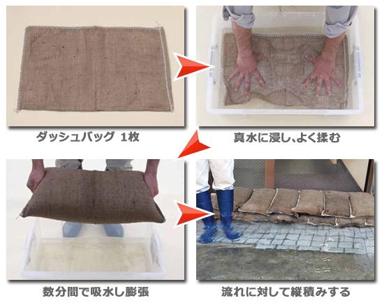 ダッシュバッグの使用方法
